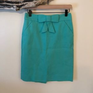 J. Crew Pencil Skirt with Bow - Size 0